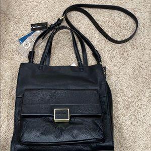 Black Leather Kenneth Cole Shoulder Bag BRAND NEW